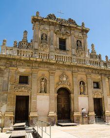 Free The Purgatorio Church In Castelvetrano, Sicily Royalty Free Stock Images - 31239479