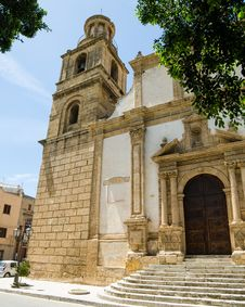 Free Church Of St. Giovanni Batista In Castelvetrano, S Royalty Free Stock Image - 31239556
