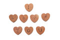 Free Wooden Heart Shape Blocks With I Love You Text Royalty Free Stock Photo - 31241625