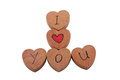 Free Wooden Heart Shape Blocks With I Love You Text Stock Image - 31241631