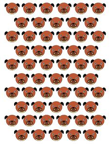 Free Dogs Pattern Stock Photography - 31241522
