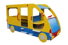 The Bus Children S Wooden Royalty Free Stock Images