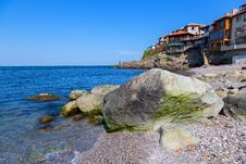 Free Seascape Old Town With Rocks In The Foreground Stock Photo - 31252580