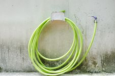 Green Rubber Tube Royalty Free Stock Photography