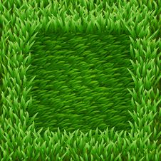 Square On Green Grass Stock Photo