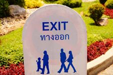 Free Exit Sign Stock Images - 31261344
