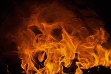 Free Fire And Flames With Imaginative Abstract Shape Stock Photo - 31262380