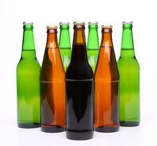 Free Set Of Beer Bottles Royalty Free Stock Photography - 31267147
