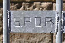 SPQR, Rome, Italy Royalty Free Stock Photography