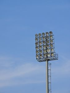 Floodlight In Day Royalty Free Stock Image