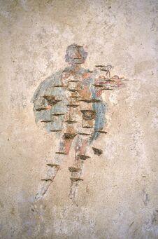 Free Stabiae. Damaged Fresco At Villa Arianna Stock Photo - 31270280