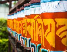 Free Buddhist Prayer Wheels Stock Photos - 31272143
