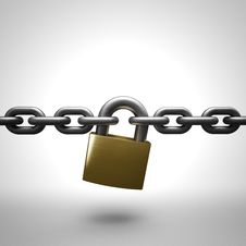 Free Chain Lock Royalty Free Stock Photography - 31275217