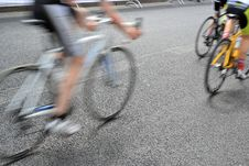 Free A Bicycle Race Through The Streets Royalty Free Stock Photo - 31275225