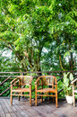 Free Chairs In A Jungle Resort Royalty Free Stock Photography - 31289207