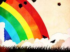 Free Grunge Rainbow Background Stock Images - 31280944