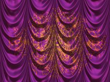 Free Purple Curtains Stock Images - 31280974