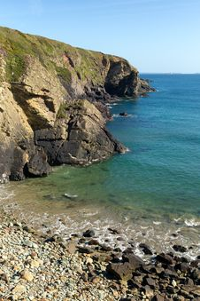 Caerfai Bay Rocky Beach Pembrokeshire West Wales UK Royalty Free Stock Photos