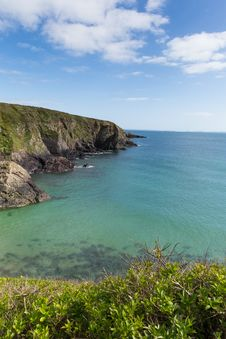 Caerfai Bay Pembrokeshire West Wales UK Stock Photos