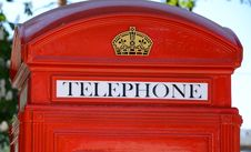 Free Red Telephone Booth Close-up Royalty Free Stock Photography - 31282517