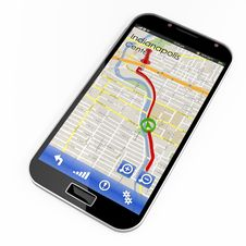 Free Smartphone With GPS Navigation Royalty Free Stock Photo - 31282645