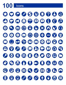 Free 100 Icons Web  Communications Royalty Free Stock Image - 31283326