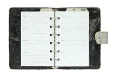 Free Old Notebook Open Isolated On White Royalty Free Stock Photo - 31285615
