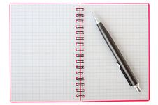 Free Notebook And Pen Royalty Free Stock Photo - 31286815