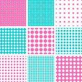 Free Seamless Polka Dot In Pink & Turquoise Stock Photo - 31293420