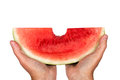 Free Big Bite Out Of Watermelon Royalty Free Stock Photos - 31295418