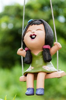 Free The Doll Girl On Swing Stock Image - 31296261