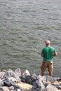 Free Man Fishing Royalty Free Stock Image - 3135476