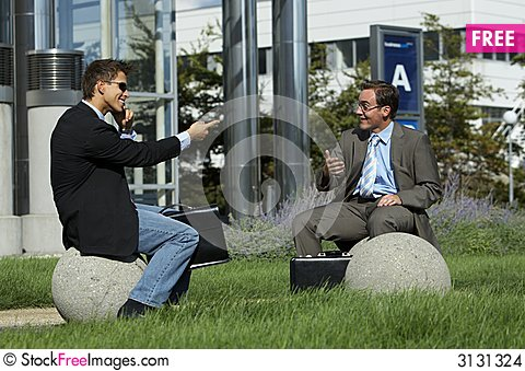 Free Business Partner Are Joking Stock Images - 3131324