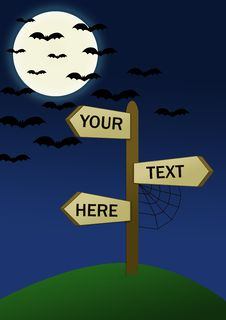 Halloween Blank Signpost Royalty Free Stock Photos