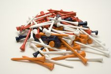 Free Pil Of Golf Tees 1 Royalty Free Stock Images - 3130059