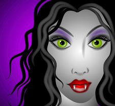 Free Female Vampire Face 2 Royalty Free Stock Photos - 3131768