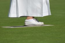 Lawn Bowling Footwear Stock Images
