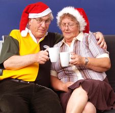 Free Christmas Couple Stock Photo - 3132240
