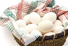 Free Basket Of Eggs Royalty Free Stock Photography - 3132387