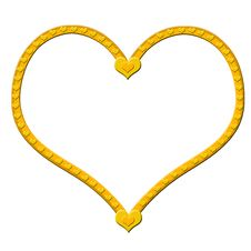 Free Golden Heart Royalty Free Stock Images - 3132659