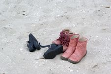 Some Left Shoes... Royalty Free Stock Photos