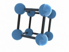 Free Isolated Blue Molecule Royalty Free Stock Image - 3133026