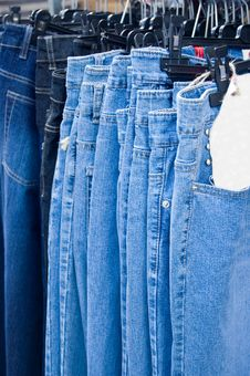Free Jeans On The Market Stock Photos - 3134433