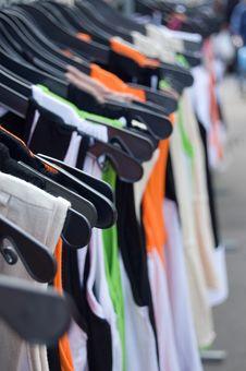 Free Shirts On A Row Stock Image - 3134461