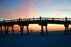 Free Sunset Pier Stock Photography - 3134682