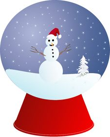 Snowman Christmas Ball Royalty Free Stock Photos