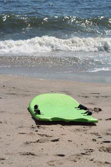 Boogie Board On The Beach Royalty Free Stock Photos