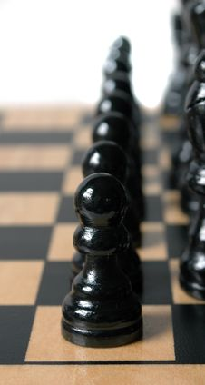 Free Row Of Pawns In Chess Game Royalty Free Stock Images - 3135309