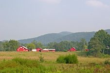 Red Barns In The Distance Royalty Free Stock Photo