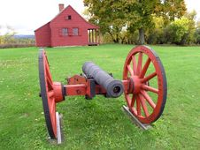 Red Cannon Royalty Free Stock Photos